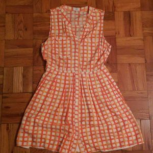 Grapefruit/White geo dress Sz. 10